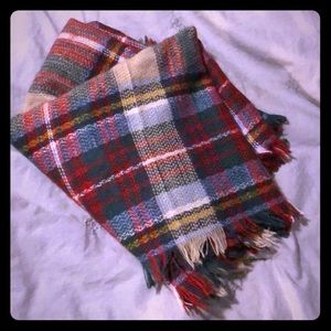Red, green, yellow plaid infiniti scarf